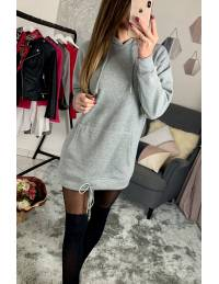 Ma robe sweat grey capuche