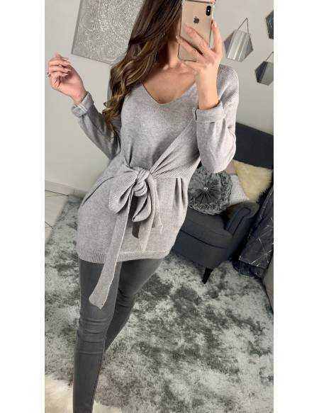 Mon pull grey mi-long