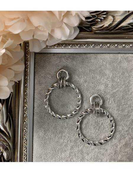 """Mes boucles d'oreilles argent """"jolis anneaux"""""""