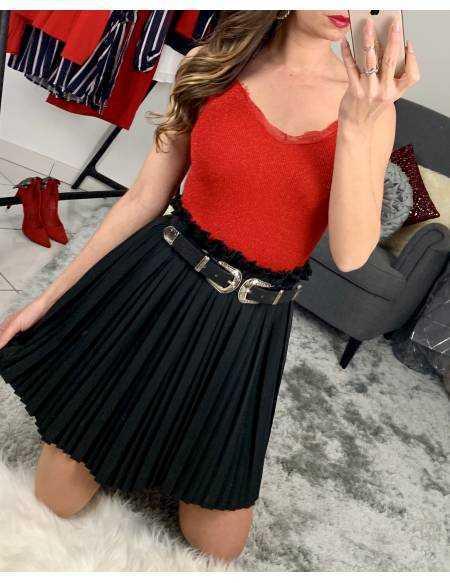Ma jupe black plissée