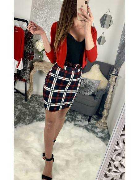 Petite veste rouge style boléro