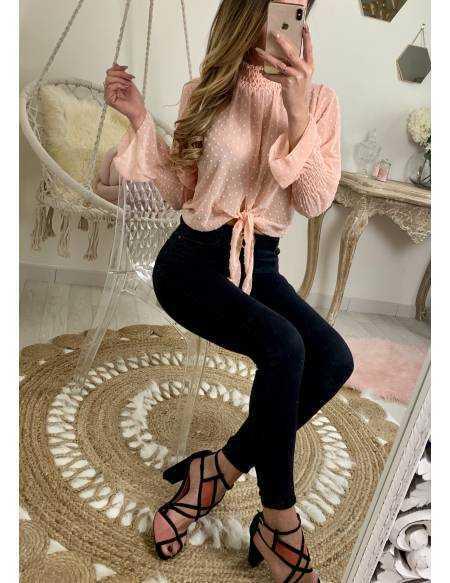 """Ma jolie blouse blouse plumetis """"nouée"""""""