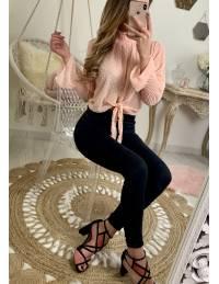 """Ma jolie blouse rose plumetis """"nouée"""""""
