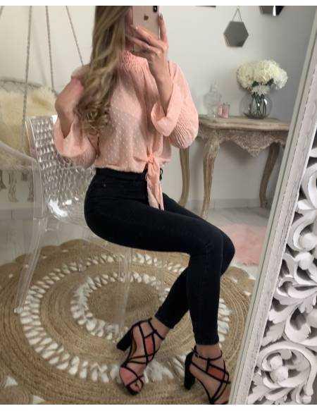 Ma jolie blouse rose plumetis