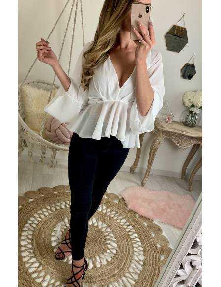 "Ma jolie blouse ample ""blanc voilage"""