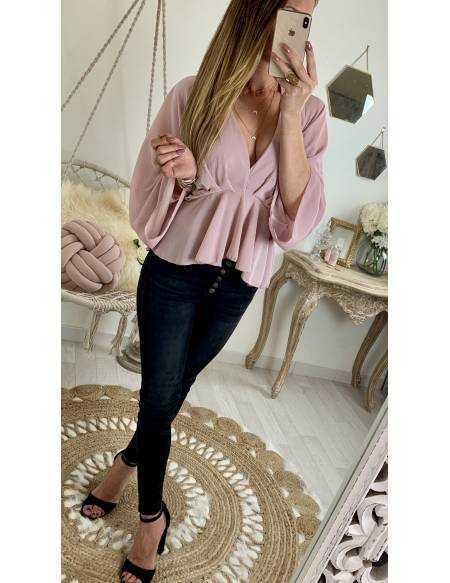 """Ma jolie blouse ample """"rose pâle voilage"""""""