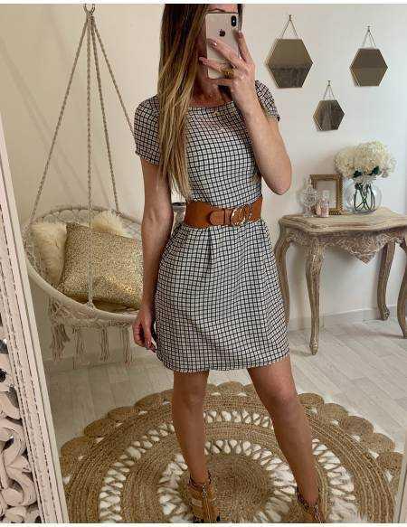 Ma superbe robe à carreaux caramel