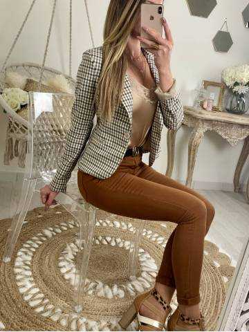 Mon joli blazer beige/camel