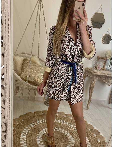 Ma robe blazer imprimé luxe**