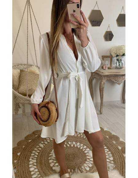 "Ma jolie robe chemisier ""camel nouée"""