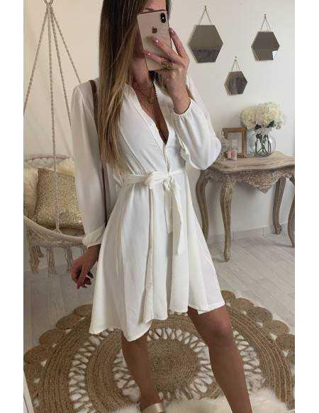 Ma robe blanche chemisier