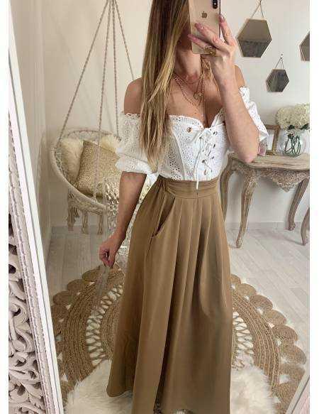 "Ma superbe jupe longue ""camel"""