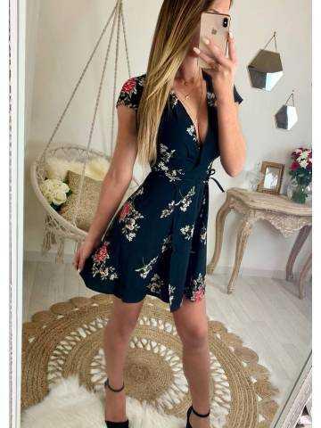 878dc286a72 Ma robe boutonnée et imprimée