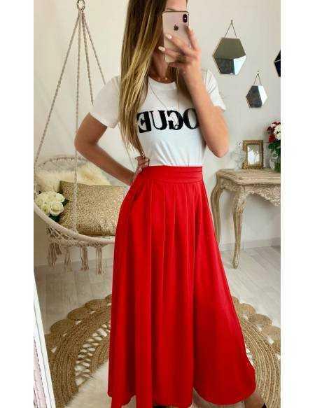 "Ma superbe jupe longue ""red"""