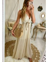 Ma jolie robe longue beige lumineux