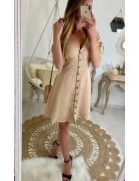 Ma jolie robe beige rosé boutonnée