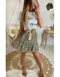 """Ma jolie jupe imprimée black/beige """"motif gold"""""""