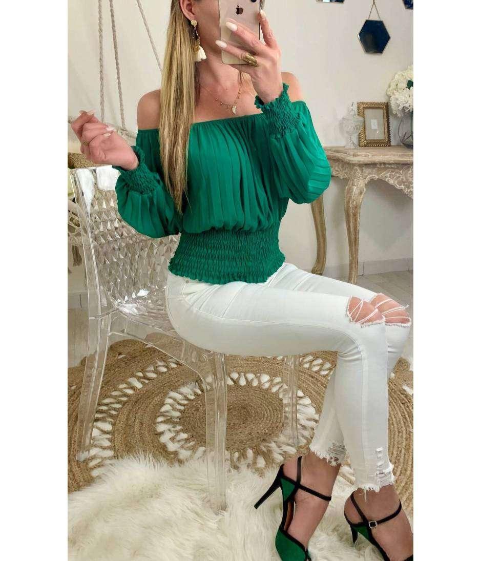 "Ma jolie blouse so green ""plissée et smokée"""