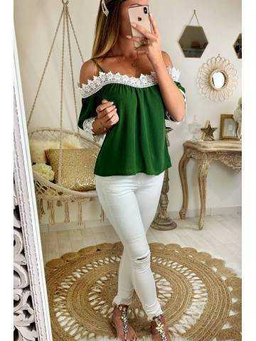 """Ma jolie blouse ample turquoise imprimé """"Coachella"""""""