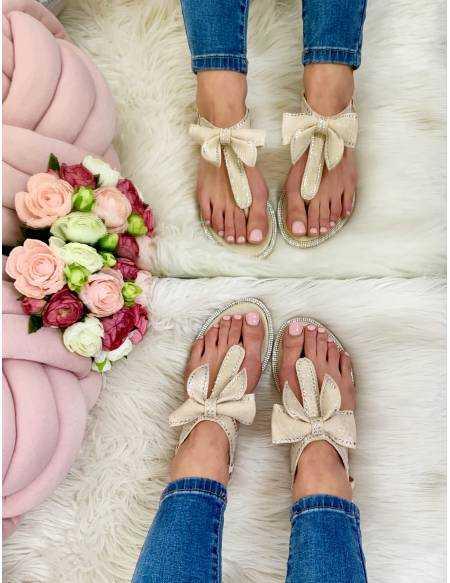 """Mes sandales beige nude """"joli noeud"""""""