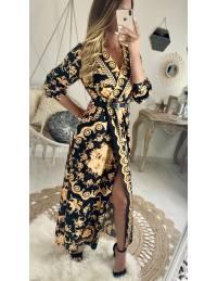 Ma jolie robe longue imprimé couture
