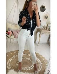 """Pantalon blanc  """"taille haute boutonné"""""""