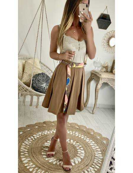 45162d26a17 Ma jolie jupe caramel et sa ceinture style foulard