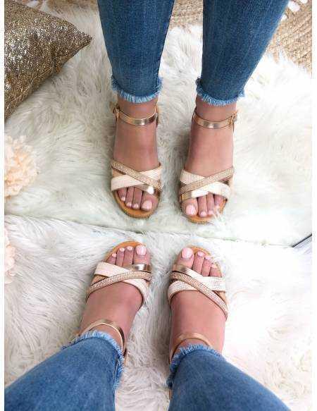 Mes jolies sandales plateformes et sequins