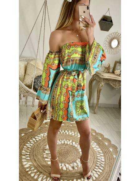 "Ma jolie robe ""imprimé foulard colorée"""
