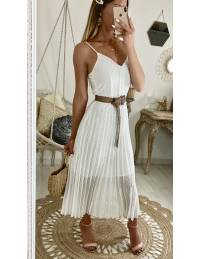 "Ma superbe robe blanche plumetis et broderies ""fines bretelles"""