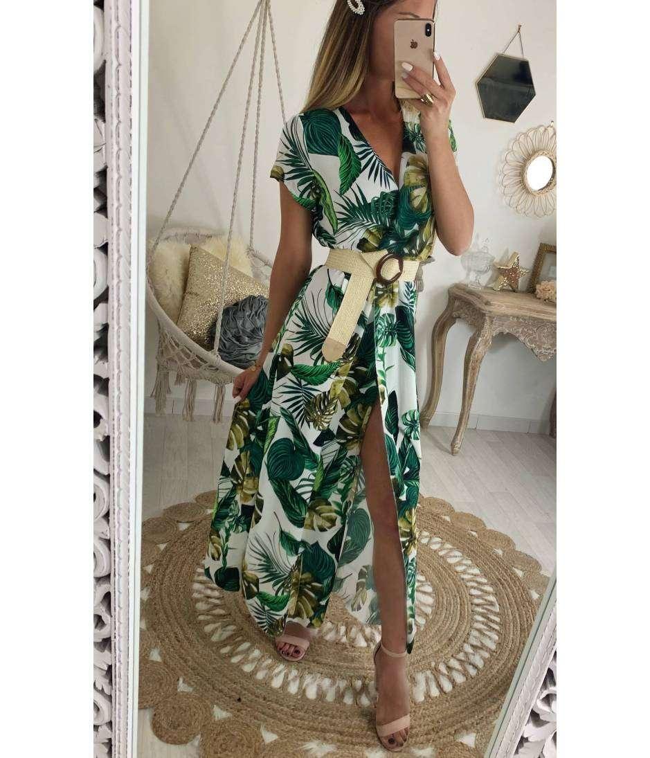 grande vente au rabais sélectionner pour dernier chercher Ma jolie robe longue blanche cache coeur et jungle