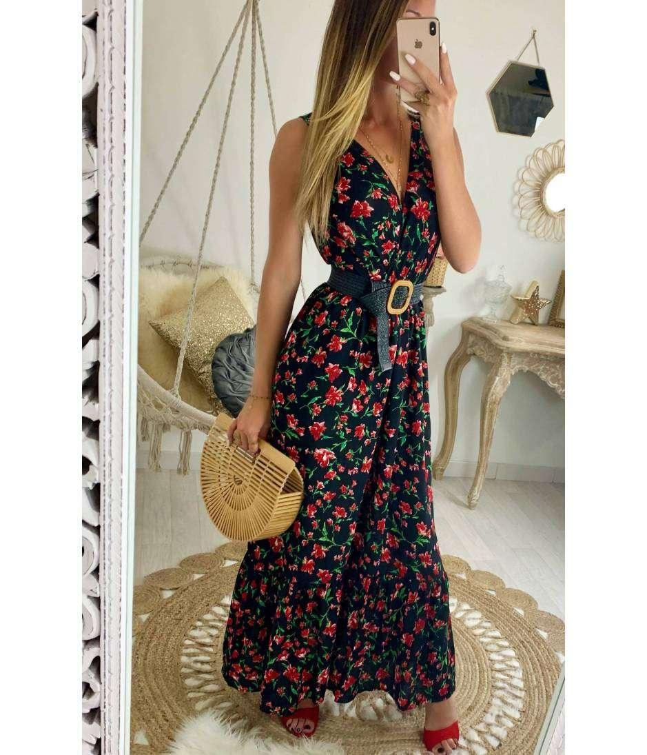 belle couleur obtenir pas cher usa pas cher vente Ma jolie robe longue cache coeur