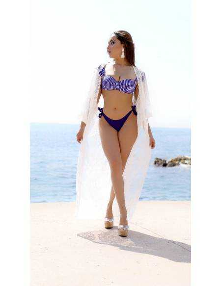 """Mon kimono blanc """"jolie dentelle"""""""