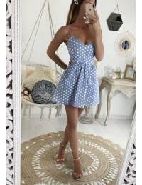 Ma jolie robe bleue ciel à pois