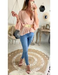 """Ma jolie blouse ample """"rose lumineux voilage"""""""