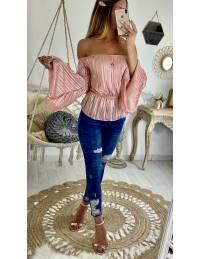 """Ma blouse rose lumineux """"col élastique"""""""