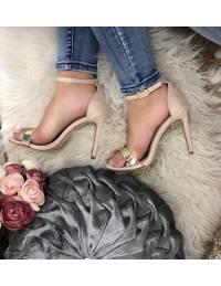 """Mes jolies sandales à talon beige nude """"so glam"""""""
