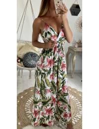 Ma jolie robe longue tropicale