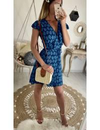 """Ma jolie robe blue """"cache coeur et volants"""""""