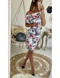 """Ma robe pink flowers """"manches courtes"""" 2"""