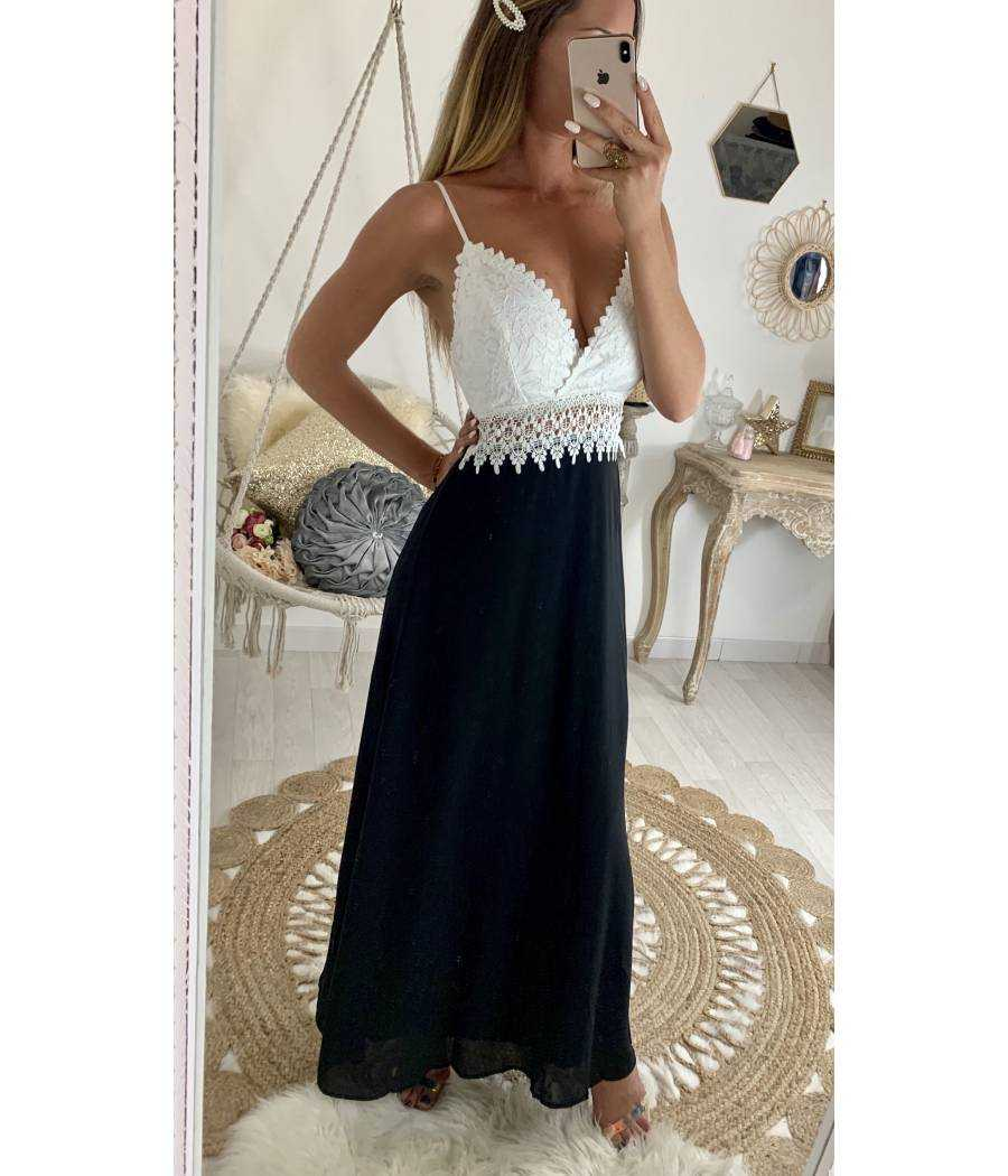 "Ma superbe robe longue blanche ""so dentelle"""
