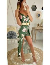 Ma robe longue et son short kaki & flowers pink