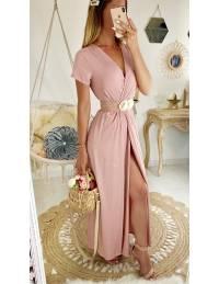 Ma jolie robe longue pink cache coeur