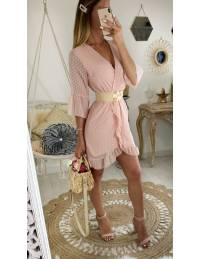 """Ma jolie robe rose pâle """"plumetis et volants"""""""