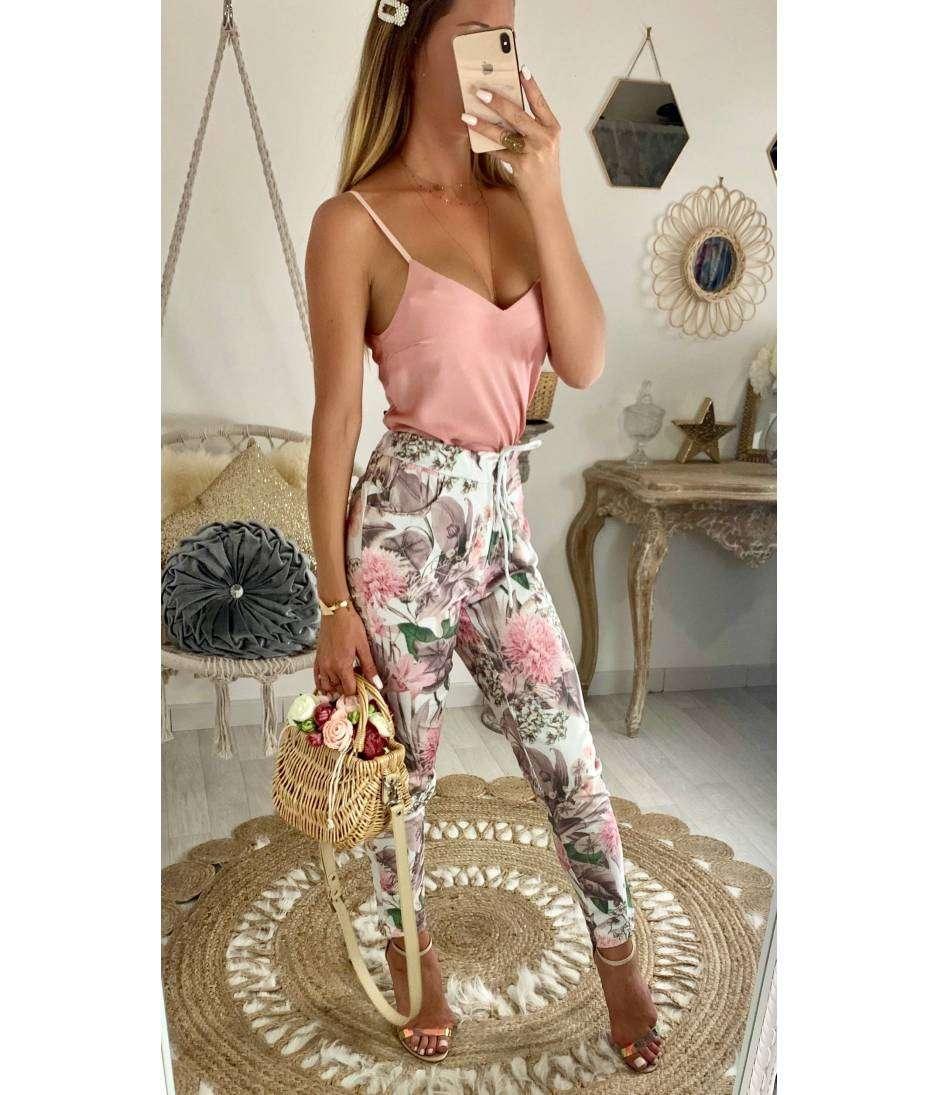 """Mon pantalon souple """"flowers pink"""""""