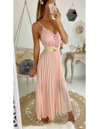 """Ma jolie robe longue rose pâle """"plissée et buste en dentelle"""""""""""