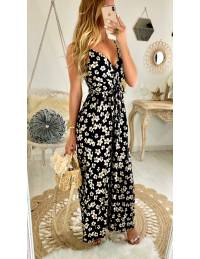 "Ma robe longue ""Black & Flowers"""