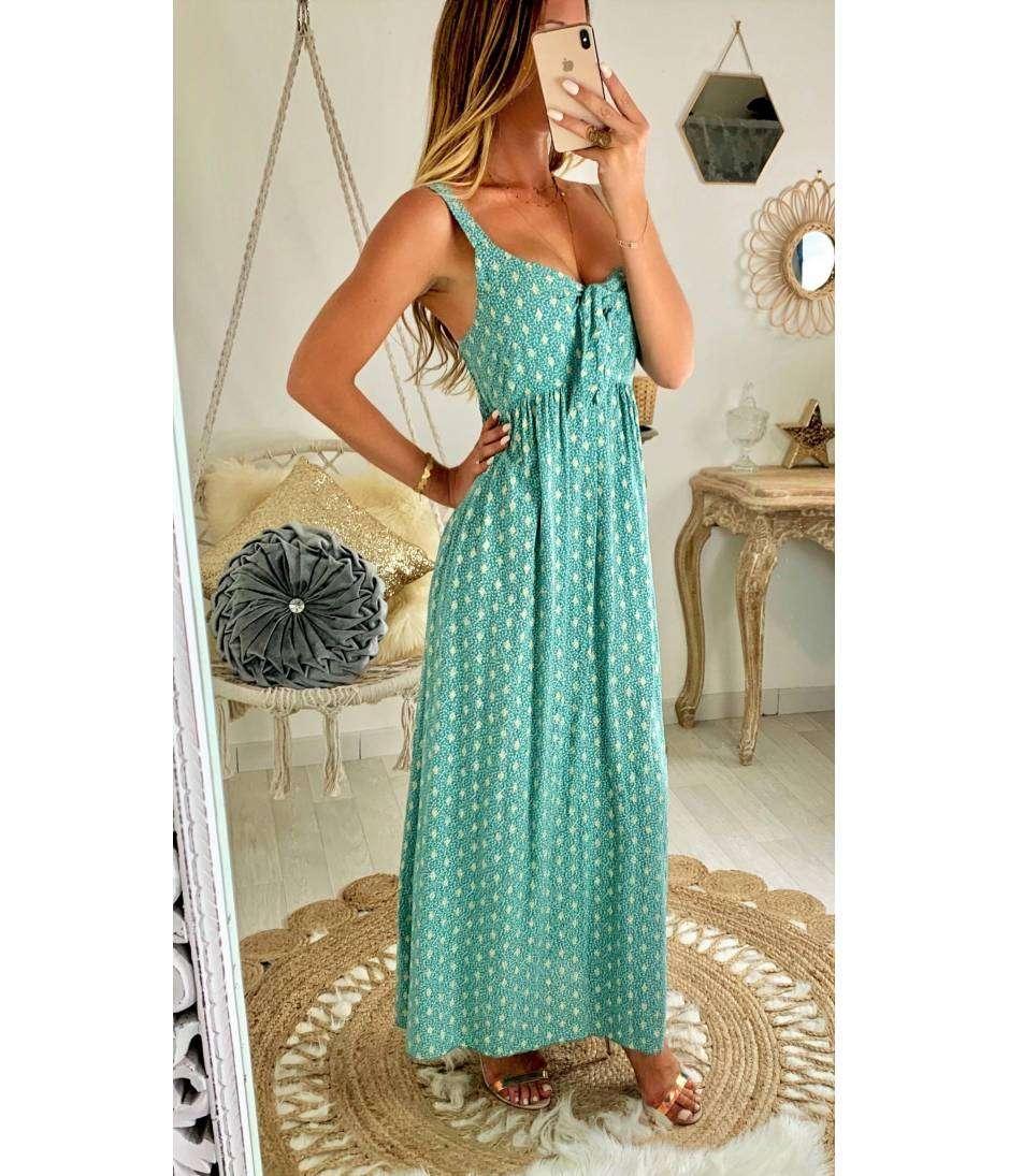 Ma jolie robe longue verte & gold