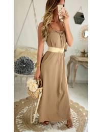 """Ma jolie robe longue camel """"dos nageur"""""""