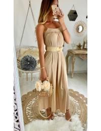 """Ma robe longue beige """"dos noué"""""""
